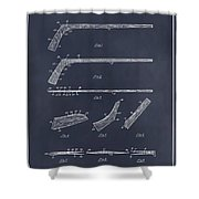 1934 Hockey Stick Patent Print Blackboard Shower Curtain