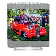 1935 Dodge Coupe Hot Rod Gasser Shower Curtain
