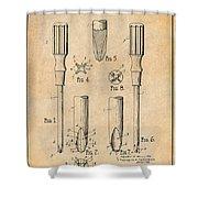 1935 Phillips Screw Driver Antique Paper Patent Print Shower Curtain