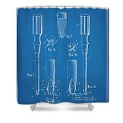 1935 Phillips Screw Driver Blueprint Patent Print Shower Curtain