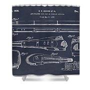 1935 Union Pacific M-10000 Railroad Blackboard Patent Print Shower Curtain