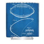 1936 Reach Football Blueprint Patent Print Shower Curtain