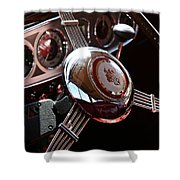 1937 Vintage Model 1508 Steering Wheel Shower Curtain