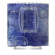 1937 Whiskey Barrel Patent Shower Curtain