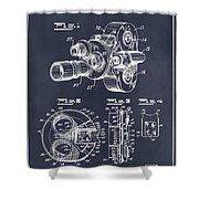 1938 Bell And Howell Movie Camera Patent Print Blackboard Shower Curtain