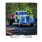 1938 Diamond T Stakebed Truck Shower Curtain
