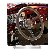 1938 Pontiac Silver Streak Interior Shower Curtain