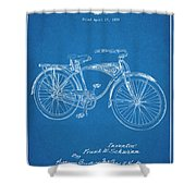1939 Schwinn Bicycle Blueprint Patent Print Shower Curtain