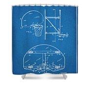 1944 Basketball Goal Blueprint Patent Print Shower Curtain