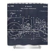 1946 Road Roller Blackboar Patent Print Shower Curtain