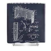 1947 Hockey Goal Patent Print Blackboard Shower Curtain