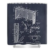 1947 Hockey Goal Patent Print Blackboard Shower Curtain
