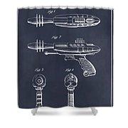 1953 Ray Gun Toy Pistol Blackboard Patent Print Shower Curtain
