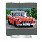 1955 Chevrolet Bel Air Nomad Shower Curtain