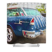 1955 Chevrolet Bel Air Nomad Station Wagon 228 Shower Curtain