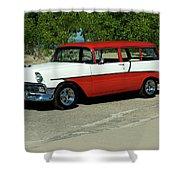 1956 Chevrolet Handyman Station Wagon  Shower Curtain