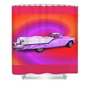 1957 Oldsmobile 98 Starfire Shower Curtain