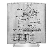 1960 Bombardier Snowmobile Gray Patent Print Shower Curtain