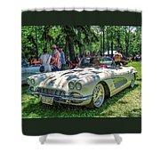 1961 Chevrolet Corvette 002 Shower Curtain