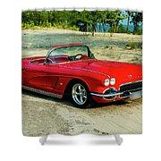 1962 Corvette Roadster Custom Shower Curtain