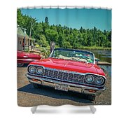 1964 And 1963 Chevrolet Impala Convertibles Shower Curtain