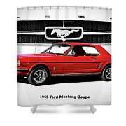 1965 Mustang 289 Coupe Shower Curtain