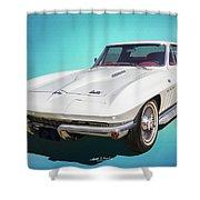 1966 Vette Shower Curtain
