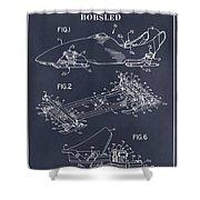 1982 Bobsled Blackboard Patent Print Shower Curtain
