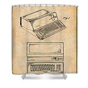 1983 Steve Jobs Apple Personal Computer Antique Paper Patent Print Shower Curtain