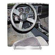 1986 Pontiac Trans Am Dashboard Shower Curtain