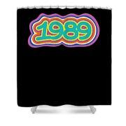 1989 Vintage Grafitti Style Word Art Classic Art Shower Curtain