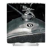1928 Bentley 4 1/2 Litre Parkward Saloon Shower Curtain