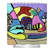 A Cat Named Picasso Shower Curtain by Anthony Falbo
