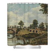 An Old Bridge At Hendon  Middlesex  Shower Curtain