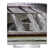Arthur J. Will Memorial Fountain At Grand Park Shower Curtain