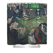 At The Roulette Table In Monte Carlo  Shower Curtain