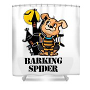 Barking Spider Halloween Design For Dog Lovers Light Shower Curtain