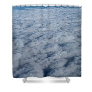 Beautiful Cloudscape High Up In The Sky. Shower Curtain