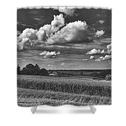 Beautiful Iowa Farm Scene Shower Curtain
