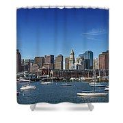 Boston Skyline North End And Financial District Shower Curtain
