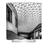 British Museum Shower Curtain by Adrian Evans