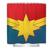 Captain Marvel 2019  Shower Curtain