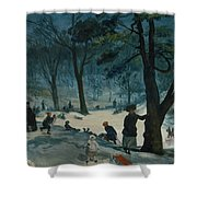 Central Park, Winter Shower Curtain