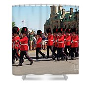 Changing Of The Guard In Ottawa Ontario Canada Shower Curtain