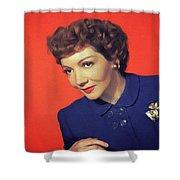 Claudette Colbert, Vintage Movie Star Shower Curtain