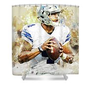 Dallas Cowboys.dak Prescott. Shower Curtain