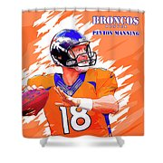 Denver Broncos.peyton Manning. Shower Curtain