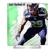 Earl Thomas,seattle Seahawks. Shower Curtain