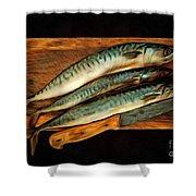 Fresh Mackerels Shower Curtain