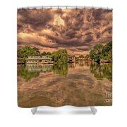 Further Down The River Shower Curtain